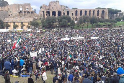 Una porzione del Circo Massimo il 30 gennaio (foto d. Mauro Grosso)
