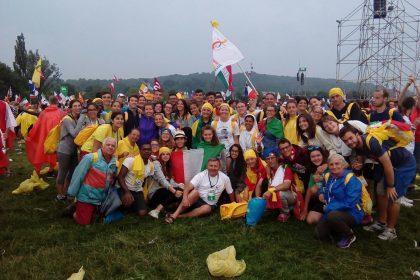 Il gruppo dell'Unità pastorale 57 a Cracovia, fra i giovani di Santena e di Cambiano